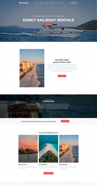 yacht charter theme template